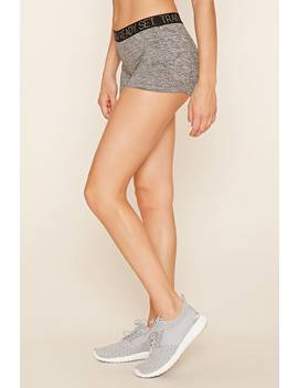 Active Heathered Zipper Shorts by F21 Contemporary