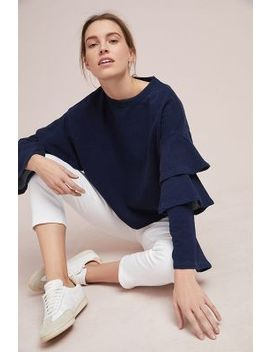 Ag Ruffled Sweatshirt by Ag Jeans