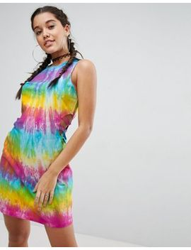 Asos Tie Dye Bodycon Mini Dress With Cut Out Detail by Asos Collection