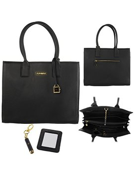 Joy & Iman Genuine Leather Hollywood Glamour Handbag Satchel Large Tote Purse by Joy & Iman
