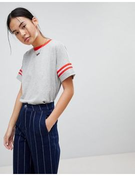 Noisy May Striped Arm T Shirt by Noisy May