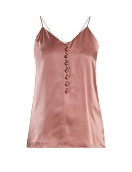 V Neck Silk Satin Cami Top by Hillier Bartley