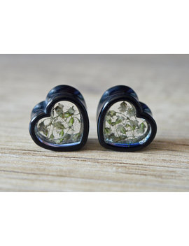 "9/16"" Plugs 14mm Gauges Heart Plugs Flower Plugs Real Flower Plugs Floral Gauges Flower Tunnels Girly Ear Plug Heart Tunnels Heart Gauges by Etsy"