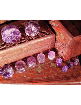 "Pair Of Amethyst Stone Plugs / Gauges For Stretched Ears Up To 1""/25mm (25mm, 22mm, 19mm, 16mm, 14mm, 12mm, 10mm, 8mm, 6mm, 5mm, 4mm, 3mm) by Etsy"