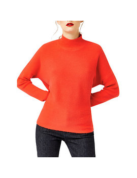 Warehouse Boxy Funnel Neck Ribbed Jumper by Warehouse