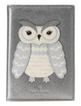 Star Bright Owl Applique Passport   Reisepassetui by Kate Spade New York