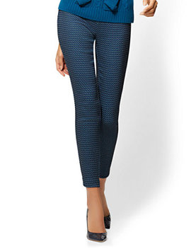 7th Avenue Pant   Pull On   Slim Leg   Signature   Jacquard by New York & Company