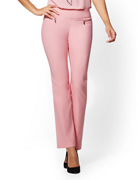 7th Avenue Pant   Pull On Straight Leg – Zip Accent by New York & Company