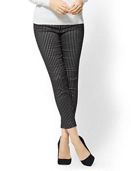 7th Avenue Pant   Slim Ankle   Modern   Metallic Pinstripe by New York & Company