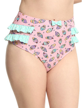 Ice Cream Pinup Swim Bottoms by Hot Topic