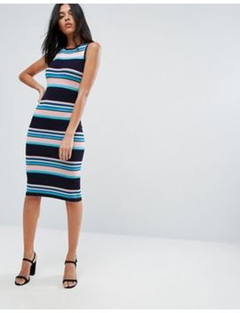 A State Of Being Stripe Midi Dress by Midi Dress