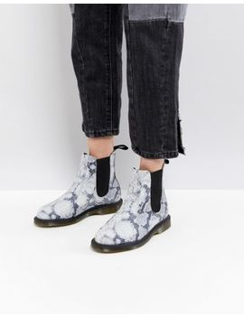 Dr Martens Kensington Chelsea Boots In Faux Snake Print by Dr Martens