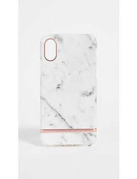 White Marble I Phone X Case by Richmond & Finch