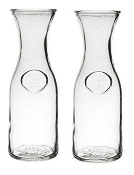 Glass Water Or Wine Carafe   1 Liter (2) by Chefcaptain