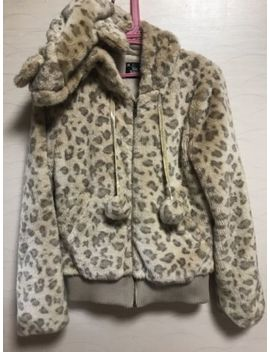Ank Rouge Fake Fur Coat Jacket Leopard Kawaii Japan Cute Tokyo Shibuya Lolita by Ank Rouge