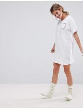 Asos Embroidered Girls Will Be Girls Sleep Tee by Asos Collection