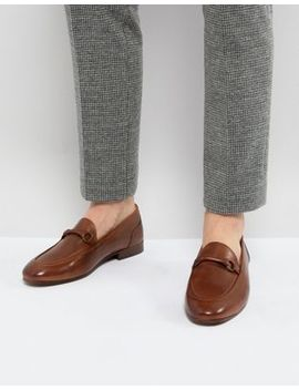 H By Hudson Renzo Leather Loafers In Tan by Hudson London