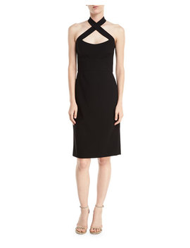 Crisscross Halter Bodycon Cocktail Dress by Jill Jill Stuart