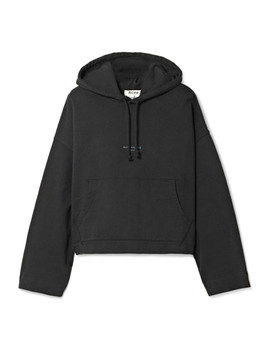 Joggy Cropped Cotton Jersey Hooded Top by Acne Studios