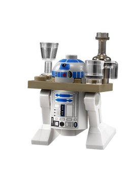 Lego Star Wars Minifigure R2 D2 With Drink Serving Tray by Lego