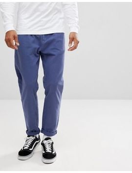Asos Double Pleat Jeans In Blue by Asos