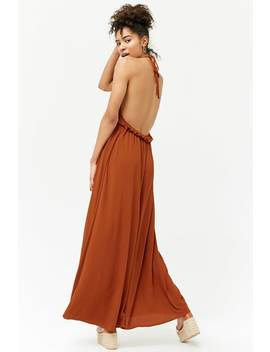 Plunging Halter Maxi Dress by Forever 21