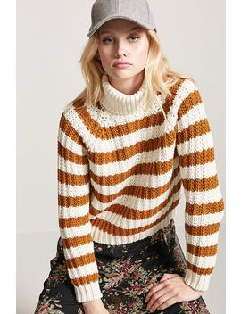Stripe Turtleneck Jumper by F21 Contemporary