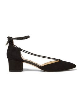 Loretta Lace Up Suede Sandals by Sam Edelman