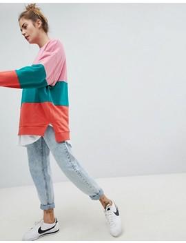 Pull&Bear Colourblock Sweater by Pull&Bear