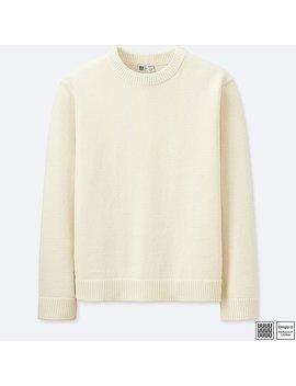 Men Uniqlo U 100 Percents Cotton Crew Neck Long Sleeve Sweater by Uniqlo