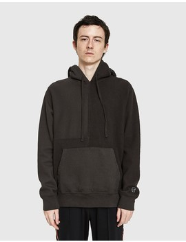 Paneled Hoody In Charcoal by Need Supply Co.
