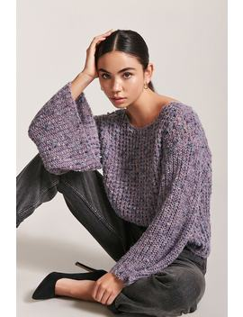 Marled Bell Sleeve Jumper by F21 Contemporary