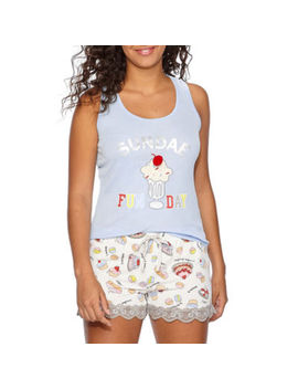 Pj Couture Lace Mix Shorts Pajama Set Juniors by Pj Couture