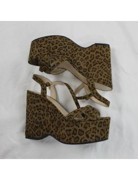 Charlotte Russe Shoes Leopard High Heel Platforms & Wedges Open Toe Women Size 8 by Charlotte Russe