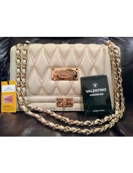 Valentino By Mario Valentino Alice Quilted Beige Purse by Valentino