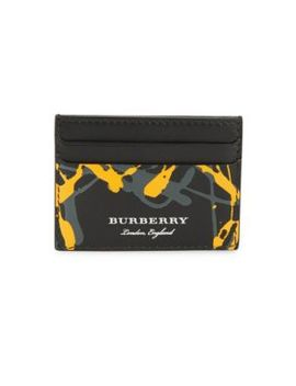Sandon Leather Card Holder by Burberry