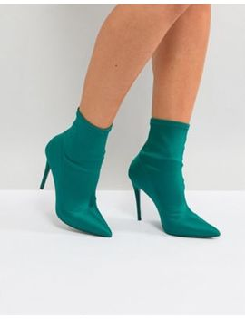 Aldo Cirelle Pull On Sock Boot In Emerald Green by Aldo