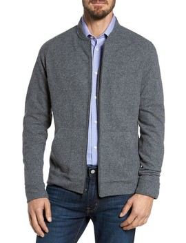 Wool Blend Fleece Bomber Jacket by Nordstrom Men's Shop