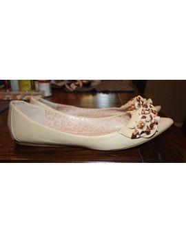 Betsey Johnson Beige 'evve' Studded Flats Shoes Size 7.5 by Betsey Johnson