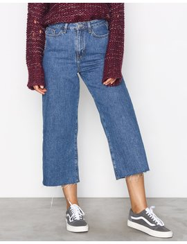 Wide Leg Rip Jeans by New Look
