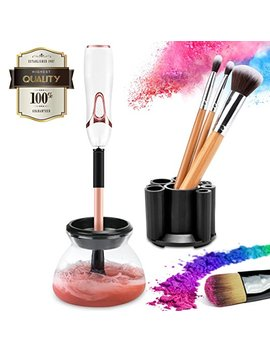 Makeup Brush Cleaner Kit, Cute Electric Cosmetic Artist Device With Completely Clean Of Rotation Instant Dry, Luxe Automatic Wash Tool And Dryer Machine Solution Set For Stylpro Eye Brushes … by Yvonne Tsai