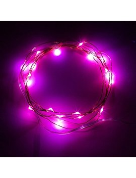 Bolweo 10ft/3 M 30 Le Ds Pink Led String Light,Battery Operated Fairy Christmas Party Wedding Girls Room Lights,Waterproof Copper Wire Indoor Outdoor Decorations by Bolweo