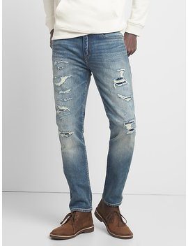 Cone Denim® Destructed Jeans In Skinny Fit With Gap Flex by Gap