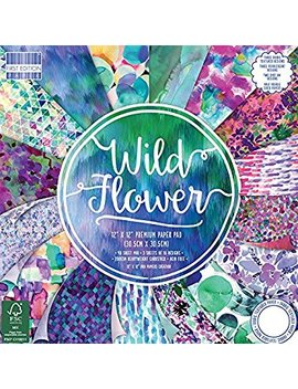 """First Edition Wild Flower Premium Paper Pad 12""""X12"""" 48 Sheets (Fsc) by First Edition"""