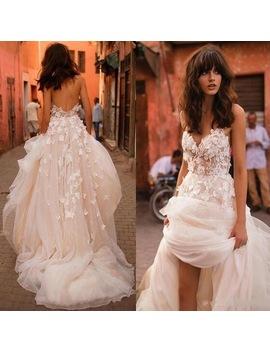 Robe De Mariee Women Dress Backless Boho Vestido De Noiva Casamento Off Shoulder Tulle Long Formal Dresses Appliques by Downton Classy Couture Store