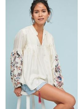 Lexy Embroidered Peasant Top by Let Me Be