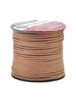 Mandala Crafts 100 Yards 2.65mm Wide Jewelry Making Flat Micro Fiber Lace Faux Suede Leather Cord (Brown) by Mandala Crafts