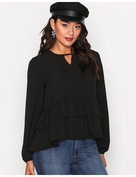 Long Sleeve Frill Blouse by Glamorous