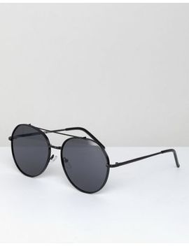 Aj Morgan Victory Round Sunglasses In Black by Aj Morgan