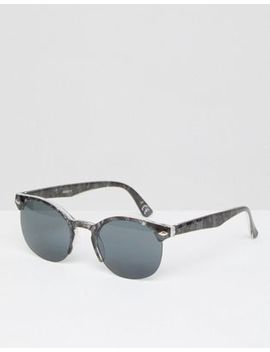 Asos Square Sunglasses In Black Pearl Frame With Smoke Lens by Asos